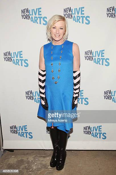 Fine art photographer Cindy Sherman attends New York Live Arts 2015 Gala at SIR Stage37 on March 10 2015 in New York City