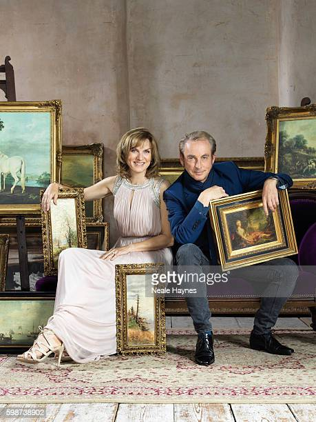 Fine art specialist Phillip Mould and tv presenter Fiona Bruce are photographed for the Daily Mail on July 5, 2016 in London, England.