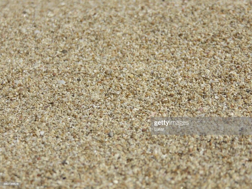 Fine Beach Sand In The Summer Sun Stock Photo