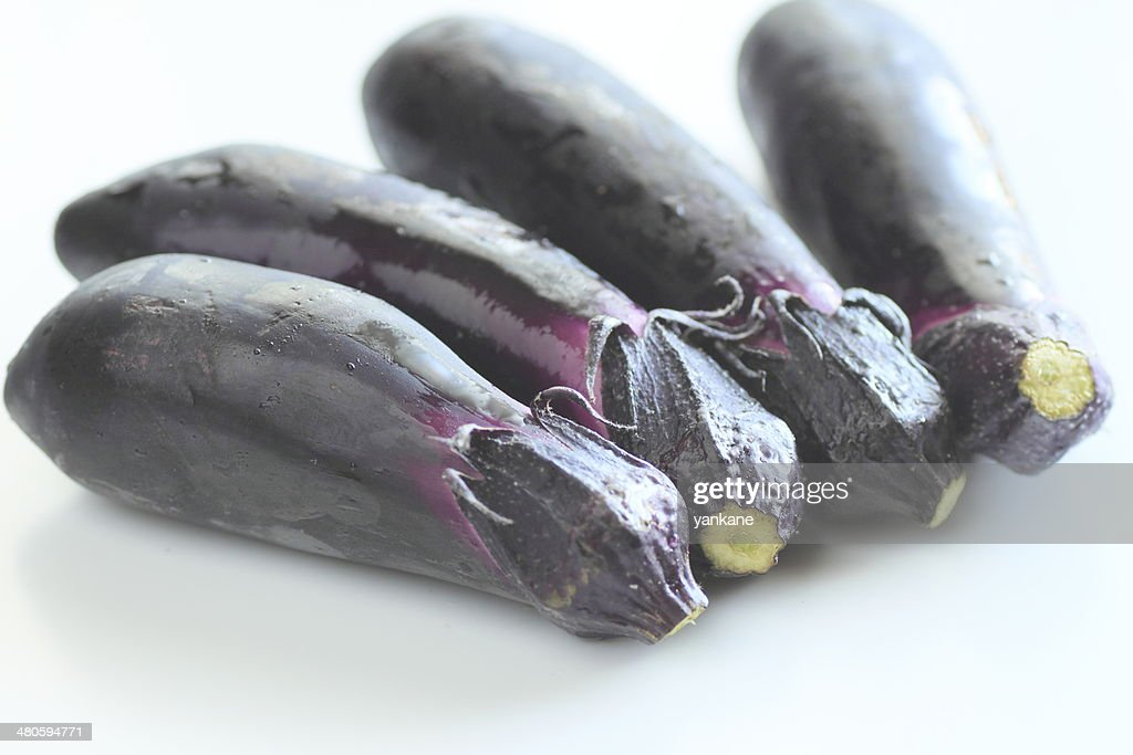 Fine blue eggplant : Stock Photo
