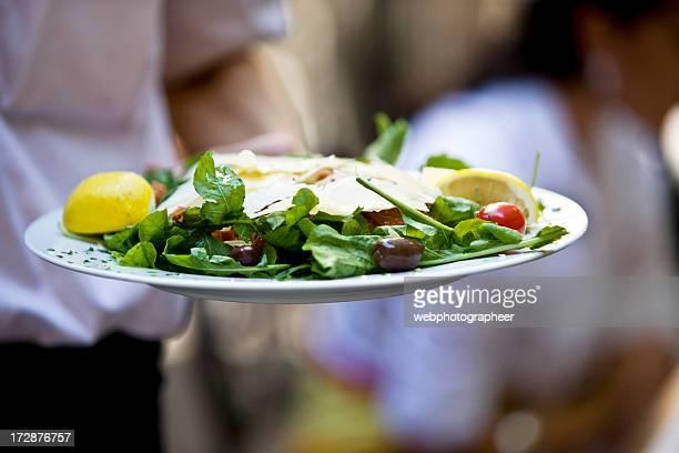 fine catering - course meal stockfoto's en -beelden