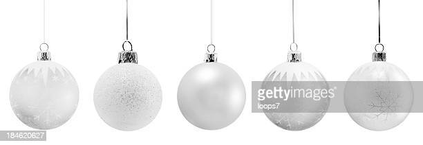 fine christmas ornaments - silver coloured stock pictures, royalty-free photos & images