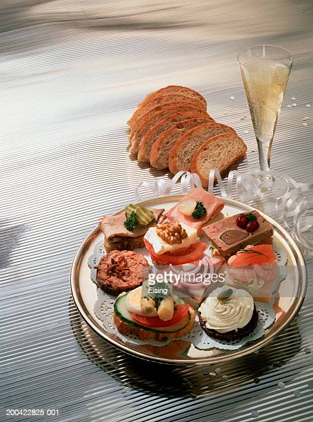 Fine Cocktail Snacks with Champagne