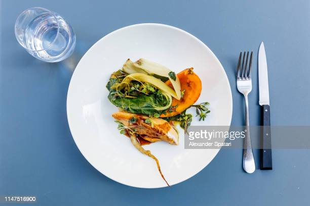 fine dining in upscale restaurant - french food stock pictures, royalty-free photos & images