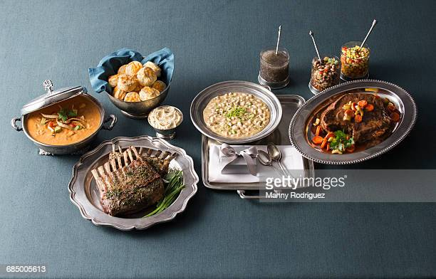 fine dining on silver plates - black eyed peas food stock pictures, royalty-free photos & images