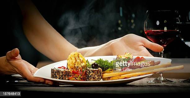 Fine gourmet serving