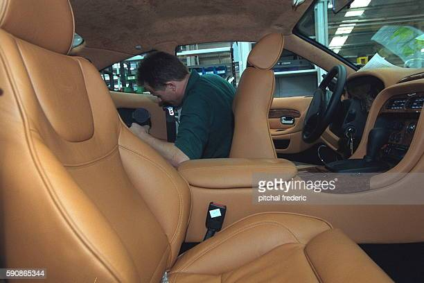 Fine leather is used in the upholstery of the 'Vanquish'