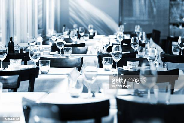 Fine table setting in a restaurant