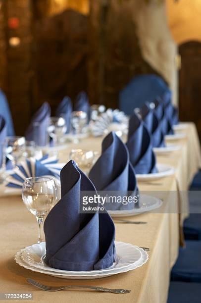 Fine table au restaurant gastronomique