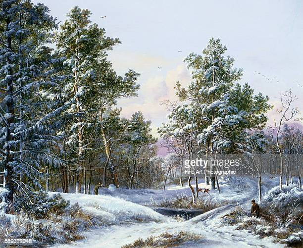 A Fine Winter's Day by Pieter Gerardus van Os