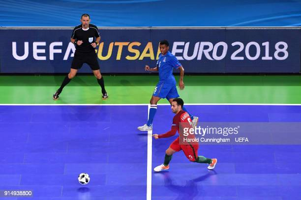 Fineo of Azerbaijan and Fabio Cecclio of Portugal in action during the UEFA  Futsal EURO 2018 96561229d4f2b