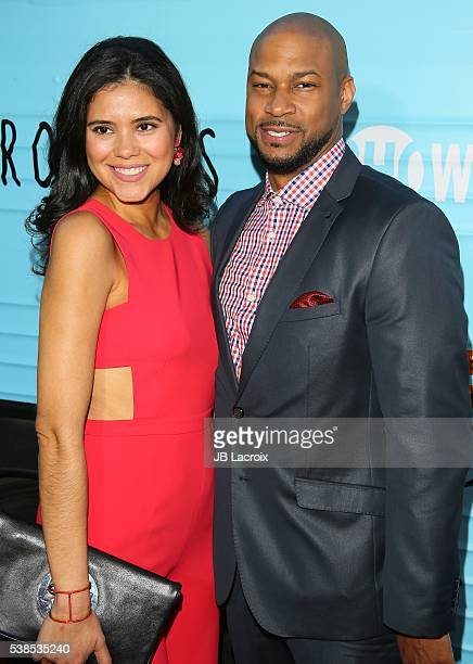 Finesse Mitchell and Adris Debarge attend the premiere for Showtime's 'Roadies' on June 06 2016 in Los Angeles California