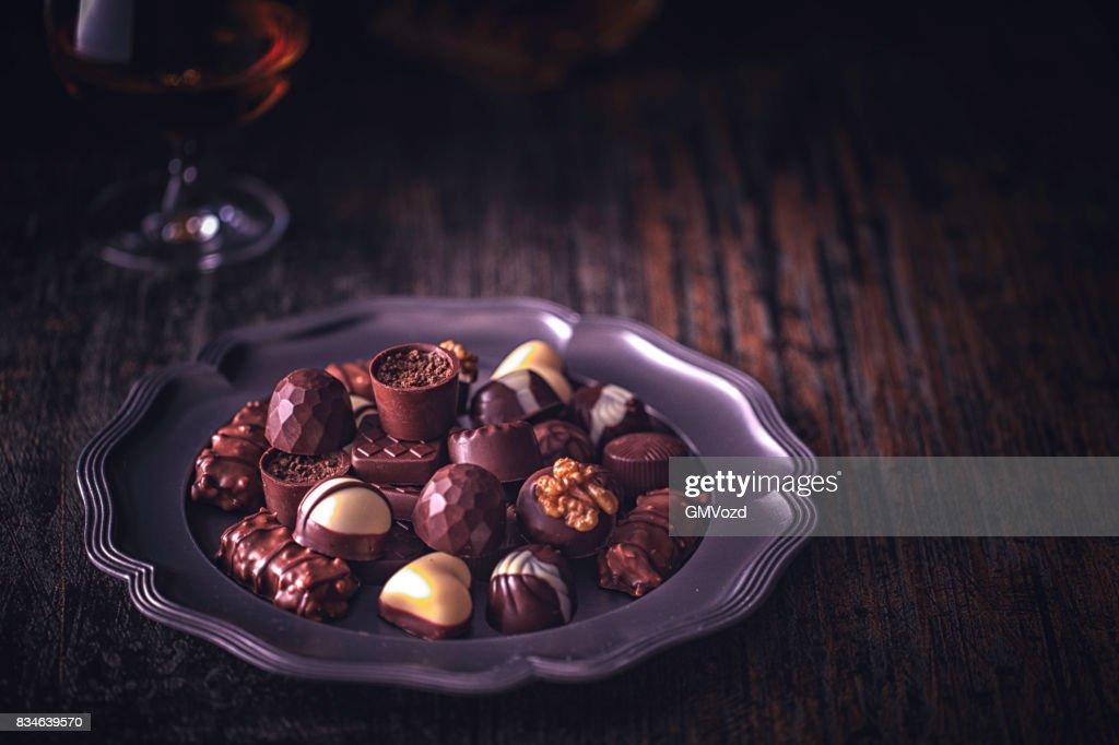 Finest Chocolate Pralines : Stock Photo