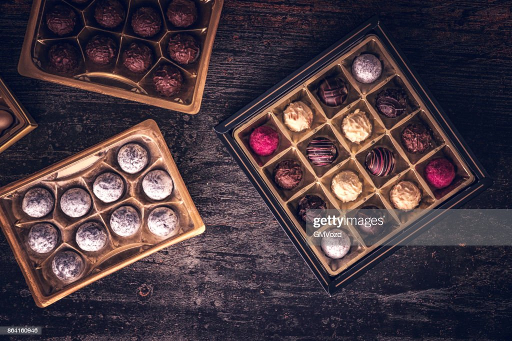 Finest Chocolate Truffle Pralines : Stock Photo