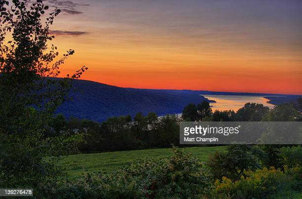 finger lakes sunset - finger lakes stock pictures, royalty-free photos & images