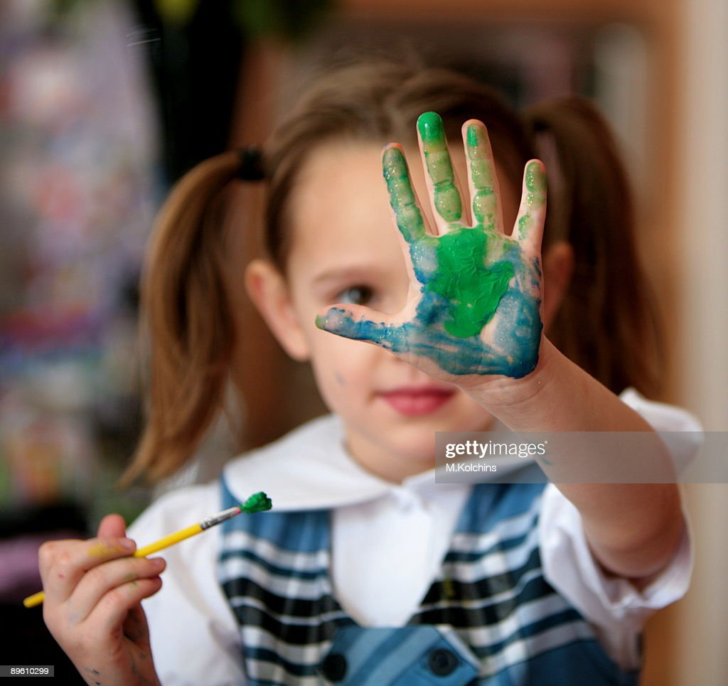 Finger painting : Stock Photo