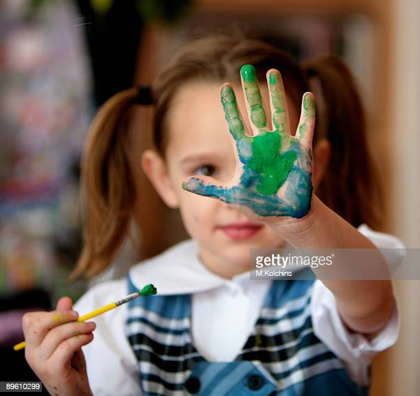 Girls and finger paint video — 5
