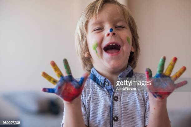 finger painting - finger painting stock pictures, royalty-free photos & images