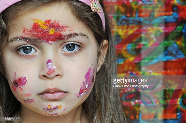 Finger Painting Turns to Face Painting