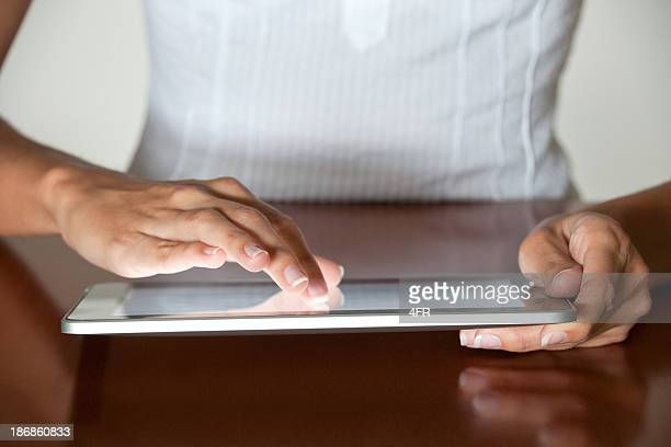 Finger pointing on a Digital Tablet (XXXL)