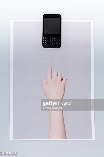 Finger ready to use smartphone