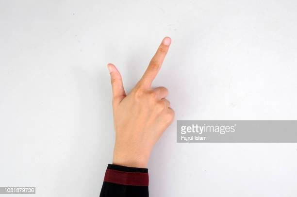 finger sign - index finger stock pictures, royalty-free photos & images