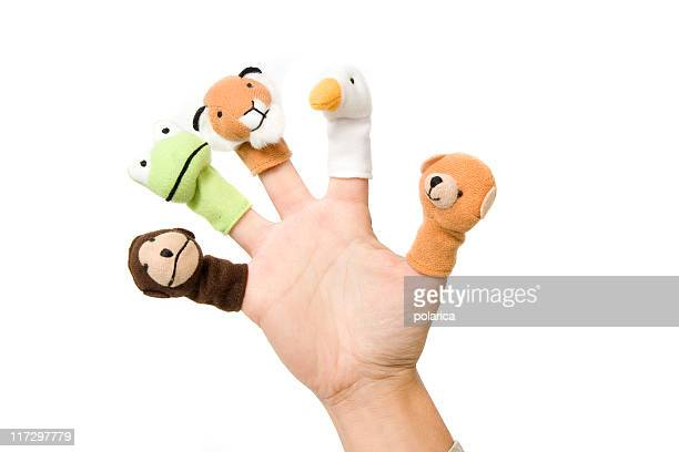 finger toys - puppet stock pictures, royalty-free photos & images