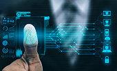 Fingerprint Biometric Digital Scan Technology.