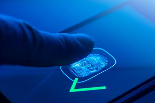 Fingerprint identification - access granted - gettyimageskorea