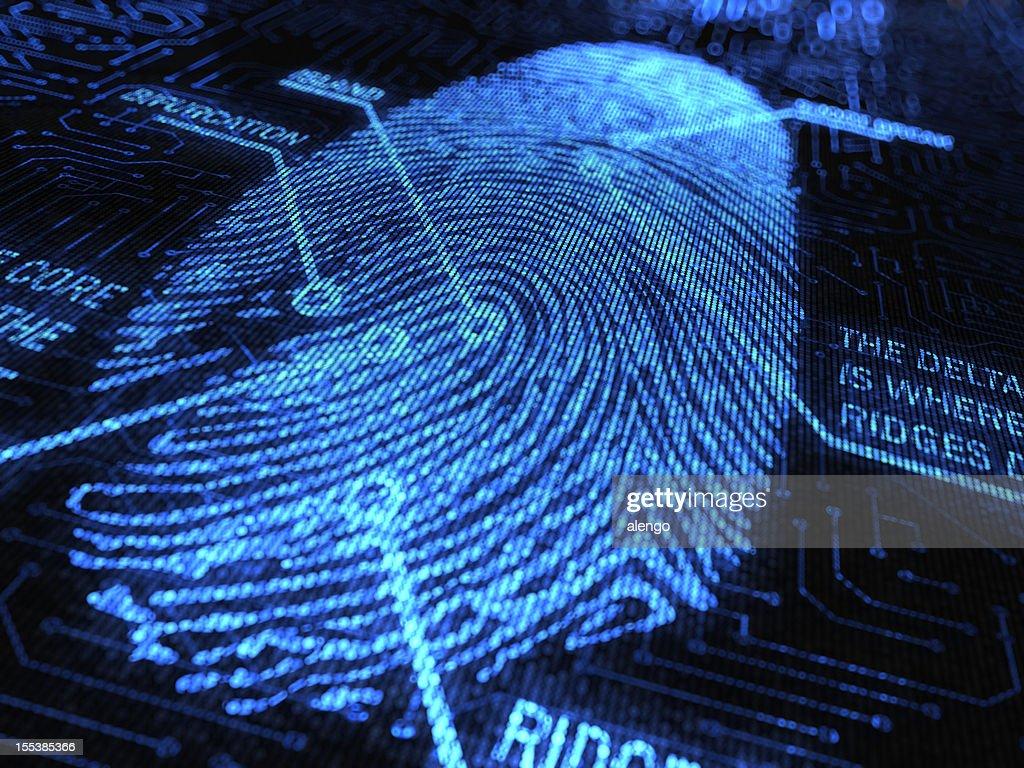 Fingerprint : Stockfoto