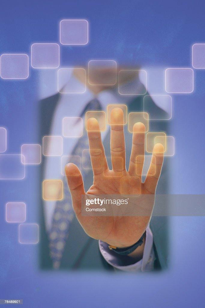 Fingerprint recognition technology : Stock Photo