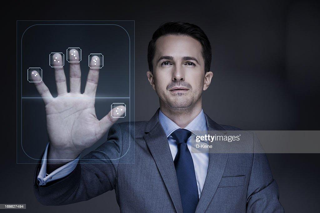 Fingerabdruck-scanner : Stock-Foto