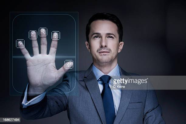 fingerprint scanner - biometrics stock pictures, royalty-free photos & images