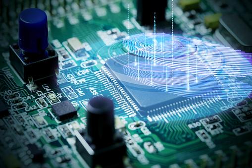 Fingerprint scanning with binary code - gettyimageskorea