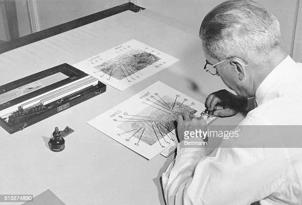 Fingerprint section of FBI headquarters in Washington DC Filed 4/26/1971