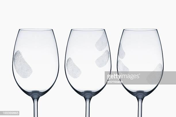 Fingerprints stain on Wine glasses
