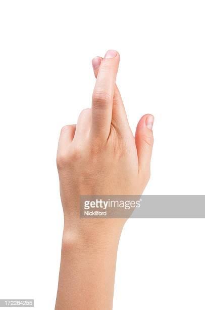 Finger kreuzen