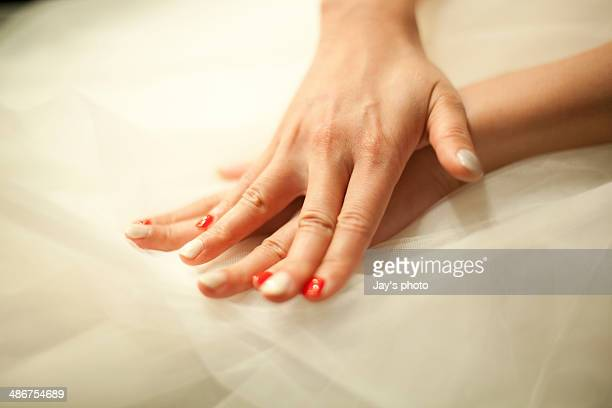 Fingers of a bride