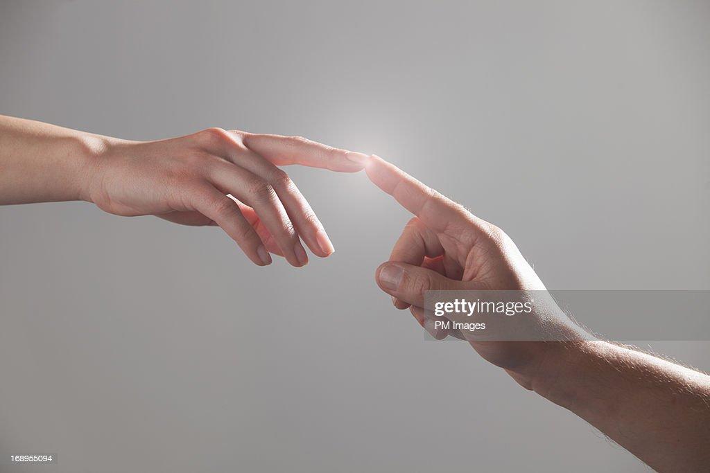 Fingers touching : Stock Photo