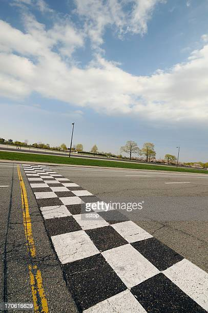 finish line - motor racing track stock pictures, royalty-free photos & images