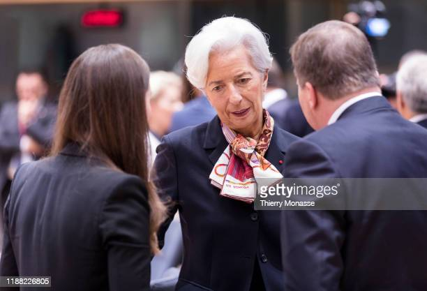 Finish Prime Minister Sanna Mirella Marin is talking with the President of the European Central Bank Christine Lagarde and the Swedish Prime Minister...