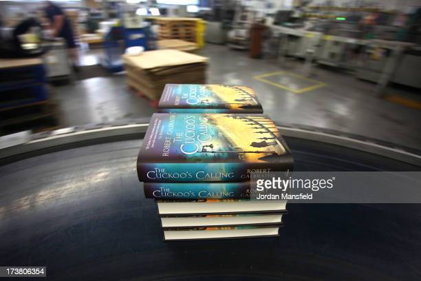 Finished copies of 'The Cuckoo's Calling' come off the print line on July 18 2013 in Bungay England JK Rowling has recently been uncovered as the...