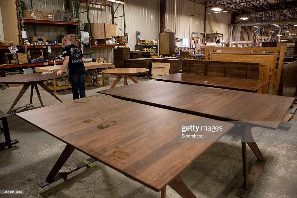 Finished Furniture Sits On The Floor Of The Copeland Furniture  Manufacturing Facility In Bradford, Vermont