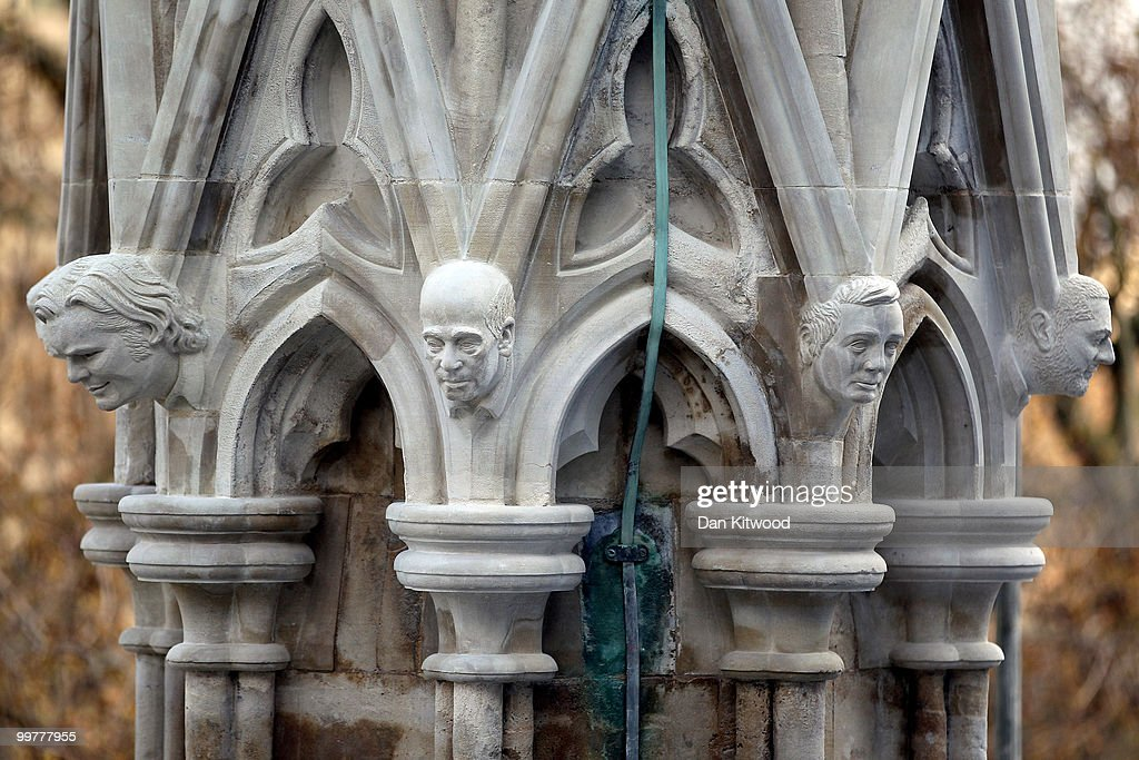 Finished gargoyles adorn the top of the nearly completed Chapter House at Westminster Abbey on April 14, 2010 in London, England. Built in the 1250's Chapter House is one of London's oldest buildings, but over the years has suffered deterioration to much of its stone facade because of prevailing weather conditions. With the help of a team of stonemasons, led by English Heritage, the exterior has now been carefully returned to it's former glory with a full complement of newly carved friezes, gargoyles and fully restored stained glass windows.