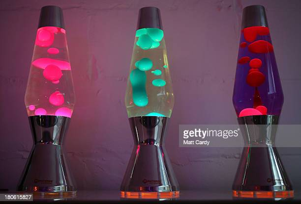Finished lava lamps are shown on display at the Mathmos factory on September 12, 2013 in Poole, England. The company, based in Poole, Dorset, has...
