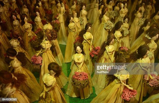 Finished products of homemade Barbie Doll are display for export in a workshop at Mao Gate under Senapati District of the India north eastern state...