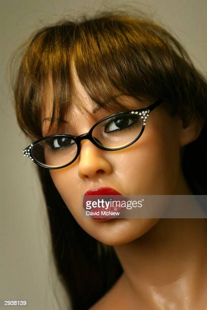 A finished silicone RealDoll sex doll is seen at the Abyss Creations factory on February 5 2004 in San Marcos California RealDolls are created using...