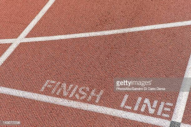 Finishing line of running track