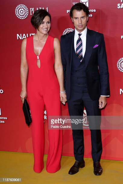 Finito de Cordoba and wife Arancha del Sol attend 'San Isidro 2018' Bullfights Fair Presentation at Las Ventas Bullring on March 22, 2019 in Madrid,...
