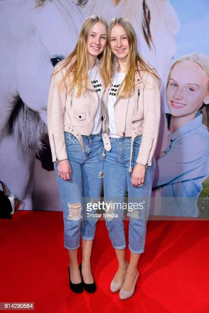 Finja and Svea during the premiere of 'Wendy 2 Freundschaft fuer immer' at Cinedom on February 4 2018 in Cologne Germany